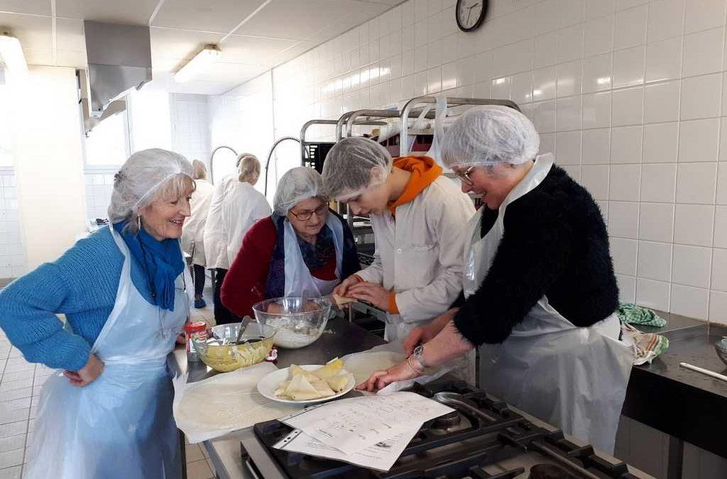 Ateliers culinaires seniors avec le Centre Socio-Culturel de Lesneven