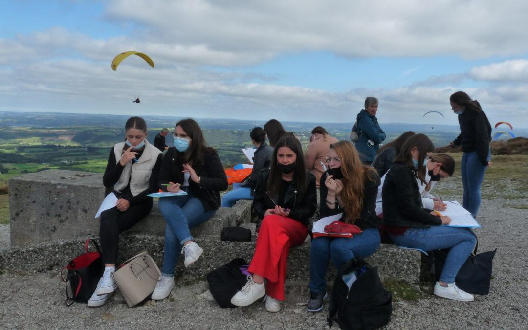 Les élèves de Bac pro SAPAT en visite au Parc Régional d'Armorique